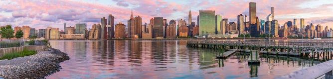 Midtown Manhattan no nascer do sol, New York, EUA foto de stock royalty free