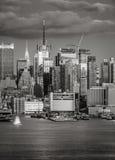 Midtown Manhattan ocidental no crepúsculo, New York City Foto de Stock Royalty Free
