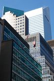 Midtown Manhattan Office Facades Royalty Free Stock Image