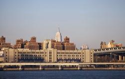 Midtown Manhattan på solnedgången. Arkivfoto