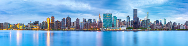 Midtown Manhattan panorama. As viewed from Gantry Plaza State Park across East River Stock Photography