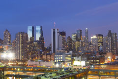Midtown Manhattan panorama at sunset Stock Photos