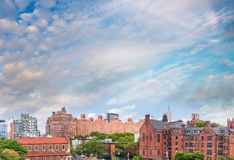 Midtown Manhattan panoramic view at sunset from High Line Park, Stock Image