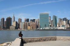 Midtown Manhattan skyline Royalty Free Stock Photo