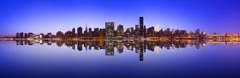 Midtown Manhattan Skyline. Across the East River in New York City Stock Photo