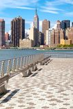 The midtown Manhattan skyline on a beautiful summer day Stock Image