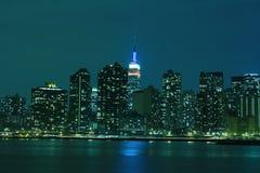 Midtown Manhattan skyline at Night Lights, NYC Royalty Free Stock Photos