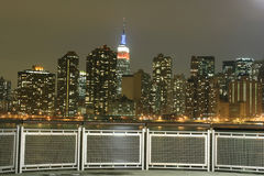 Midtown Manhattan skyline at Night Lights, NYC Royalty Free Stock Images