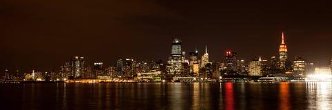 Midtown Manhattan Skyline at Night Stock Photography