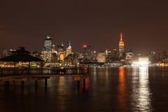 Midtown Manhattan Skyline at Night Stock Image