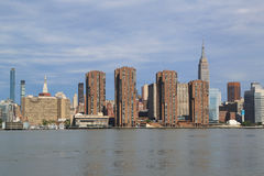 Midtown Manhattan skyline panorama Royalty Free Stock Photography