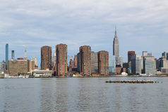 Midtown Manhattan skyline panorama Royalty Free Stock Photo
