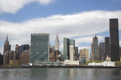 Midtown Manhattan skyline panorama Royalty Free Stock Photography