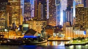 Midtown Manhattan skyscrapers border Royalty Free Stock Image