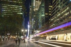 Midtown Manhattan: Skyscrapers, street, people Stock Images
