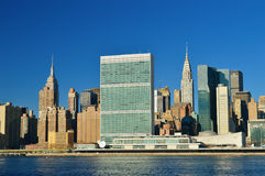 Midtown Manhattan at sunny day. Royalty Free Stock Images