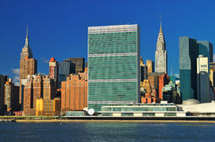 Midtown Manhattan at sunny day. Stock Photos