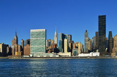 Midtown Manhattan at sunny day. View of the Midtown Manhattan at sunny day Royalty Free Stock Photography