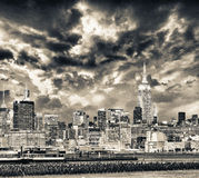 Midtown Manhattan at sunset from Jersey City Stock Photography