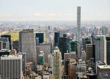 Midtown Manhattan und Oberleder-Ostseite Stockbilder