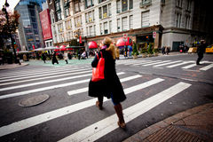 Midtown NYC Christmas Time Royalty Free Stock Photography