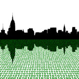 Midtown skyline with binary Royalty Free Stock Photos