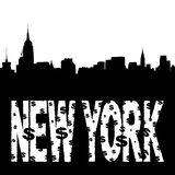 Midtown skyline with New York Stock Photos