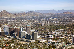 Midtown Skyline of Phoenix, Arizona Stock Image