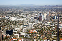 Midtown Skyline of Phoenix, Arizona Stock Images