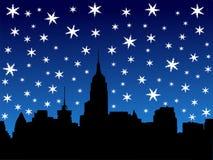 Midtown skyline in winter royalty free illustration