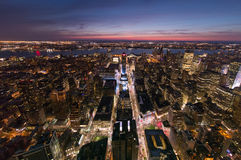 Midtown vers le Hudson Images stock