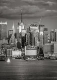 Midtown West Manhattan at dusk, New York City Royalty Free Stock Photo