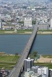 Midtwon της πόλης της Οζάκα, Ιαπωνία Στοκ φωτογραφίες με δικαίωμα ελεύθερης χρήσης