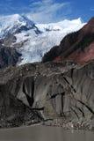 Midui冰川在西藏 免版税库存图片