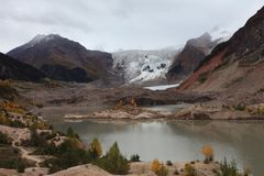 Midui Glacier. Was ranked by China National Geography Magazine as one of the top six most beautiful glaciers in China. But it is vanishing as the result of Stock Image