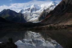 Midui Glacier in Tibet.  Midui Glacier, located in Yupu Township, is the lowest altitude above sea level in the world. It was ranked by China National Stock Photography