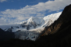 Midui glacier in Tibet Royalty Free Stock Photo
