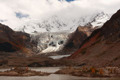 Midui Glacier. In Tibet, China Royalty Free Stock Images