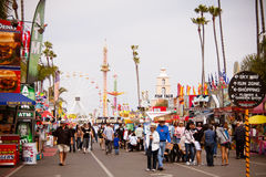 The Midway at the fair. Midway at the San Diego County Fair, June 16, 2012 - Del Mar, CA. The main thoroughfare at the San Diego County Fair, formerly known as Royalty Free Stock Photo