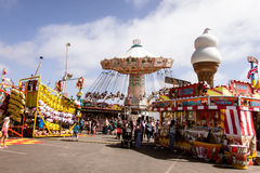 The Midway at the fair. Midway at the San Diego County Fair, June 7, 2014 - Del Mar, CA. The main thoroughfare at the San Diego County Fair, formerly known as Royalty Free Stock Photos