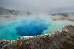 Midway gejzeru basen, Szafirowy basen, Yellowstone Zdjęcia Stock