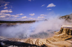 Midway Geyser Basin Royalty Free Stock Photo