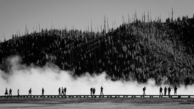 Midway Geyser Basin Boardwalk, Yellowstone royalty free stock photos
