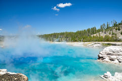 The Midway Geyser Basin. One of Yellowstone's colorful hot springs Stock Photos