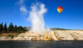 Midway Geyser Basin in Yellowstone Royalty Free Stock Photography
