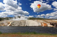 Midway Geyser Basin in Yellowstone Stock Image