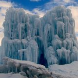 Midway Ice Castles royalty free stock photography