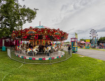 Midway. Merry go round and midway at the Shasta County Fair in Anderson, California royalty free stock photography