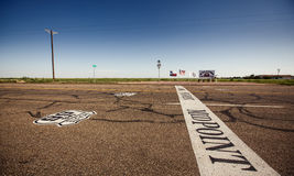 The midway point along Route 66 Stock Photography