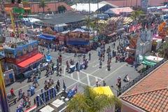 Midway przy San Diego jarmarkiem fotografia royalty free